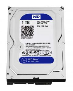 "WD Blue - Hard drive - 1 TB - internal - 3.5"" - SATA 6Gb/s - 7200 rpm - buffer: 64MB"
