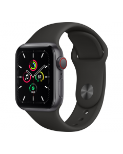 Apple Watch SE Cellular 40MM Sport Band - Grijs/Zwart