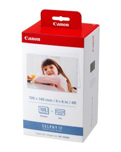 Canon KP-108IN - 3 - colour (cyan, magenta, yellow) - print cartridge / paper kit