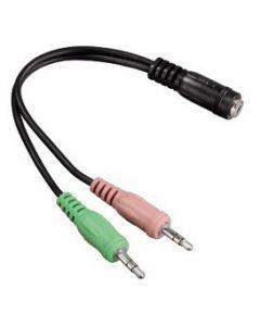 Hama 00054572 0.1m 2 x 3.5mm 3.5mm Zwart audio kabel