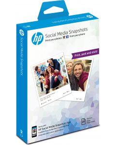 HP Social Media Snapshots verwijderbaar fotopapier met kleeflaag, 25 vel, 10 x 13 cm