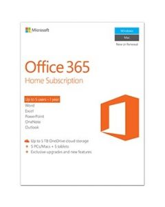 Microsoft Office 365 Home 1jaar Nederlands