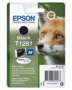 Epson T1281 BK Inktcartridge Zwart