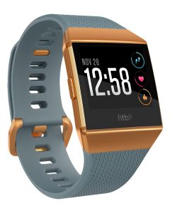 Fitbit Ionic Sportwatch Blauw - Verbrand Oranje