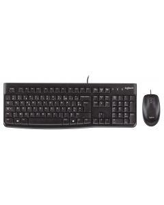 Logitech MK120 USB Toetsenbord en Muis - Azerty
