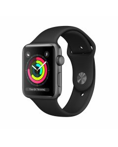Apple Watch Series 3 - 42mm Spacegrijs Met Zwart Sportbandje