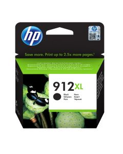 HP 912XL High Yield Black Org Ink Crt