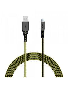 SoSkild Oplaadkabel USB-C 1.5 m - Zwart Geel -  Levensduur van 22 jaar