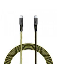 SoSkild Oplaadkabel USB-C naar USB-C 1.5 m - Zwart Geel - Levensduur van 22 jaar
