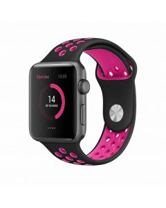 BeHello Premium Apple Watch Bandje 38/40mm voor Apple Watch Zwart/Roze