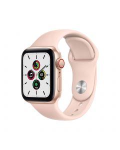 APPLE Watch SE GPS + Cellular 40mm Gold Aluminium Case with Pink Sand Sport Band Regular