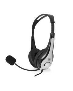 Ewent EW3565 USB Stereo Headset - Zwart/Grijs