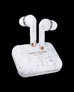 Happy Plugs Hoofdtelefoon Air 1 Plus In ear White marble
